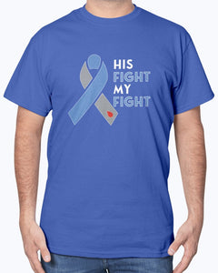 His Fight Diabetes Awareness T-Shirt