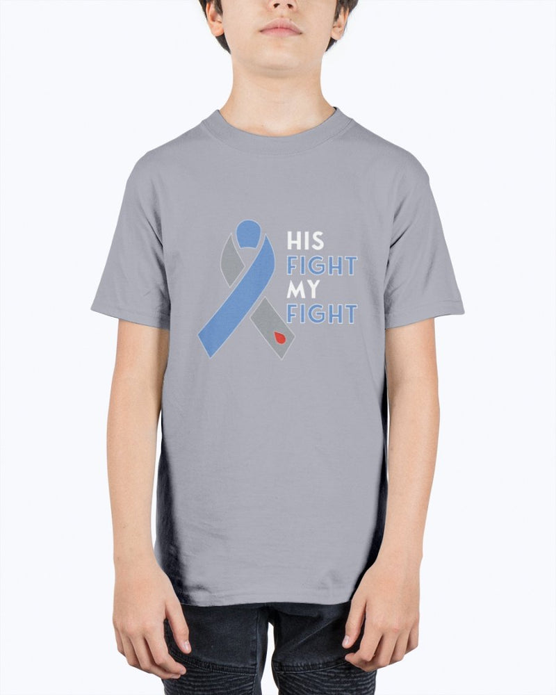 His Fight Diabetes Awareness T-Shirt - Two Chicks Designs
