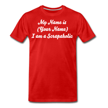 My name Scrapaholic Tee - red