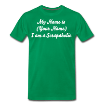 My name Scrapaholic Tee - kelly green