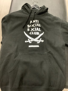 Anti Social  Club Neighborhood Collection Black Hoodie