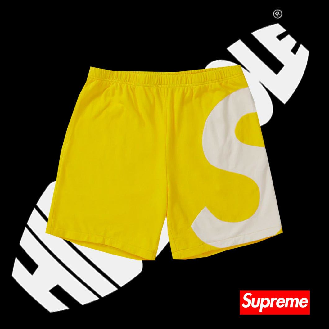 Supreme S Logo Shorts Yellow