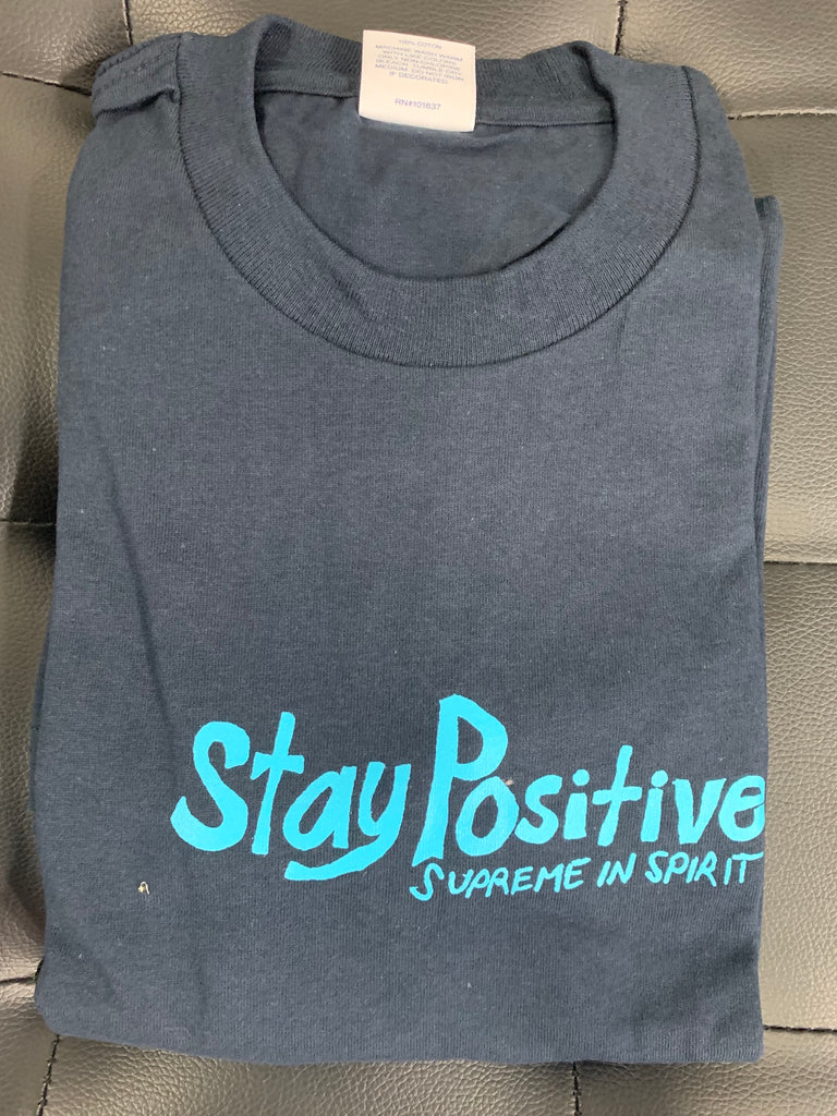 Supreme Stay Positive Tee Navy