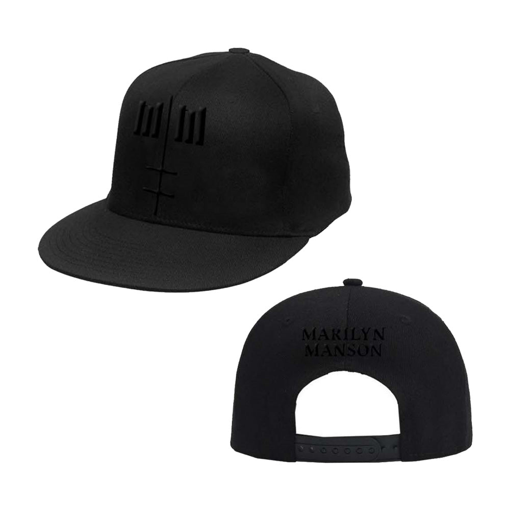 Black On Black Embroidered Hat – Marilyn Manson Store 3b2b1136c6f