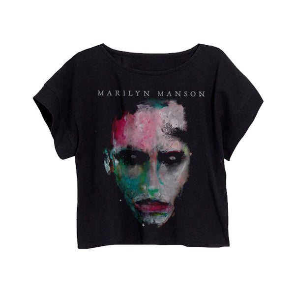 WAC Portrait Women's Black Crop Tee