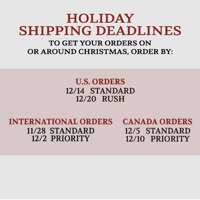 Shipping Deadlines for Marilyn Manson Store