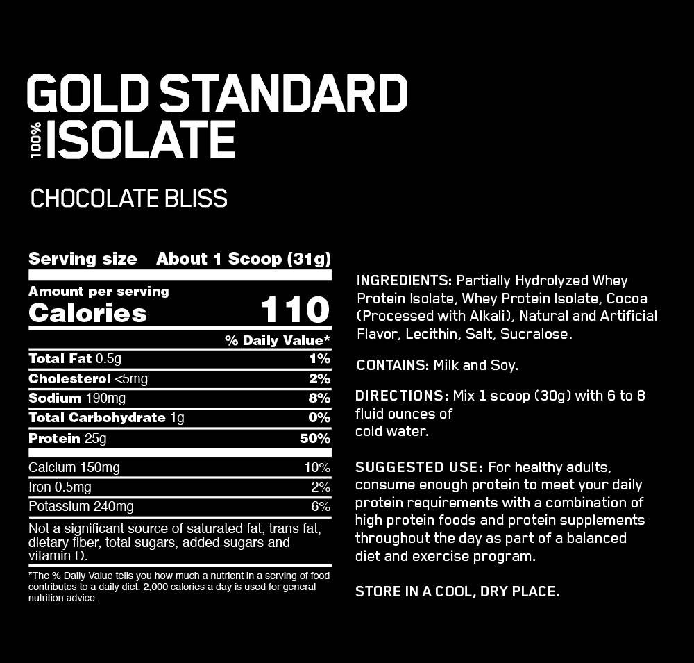 OPTIMUM NUTRITION GOLD STANDARD ISOLATE 3LB