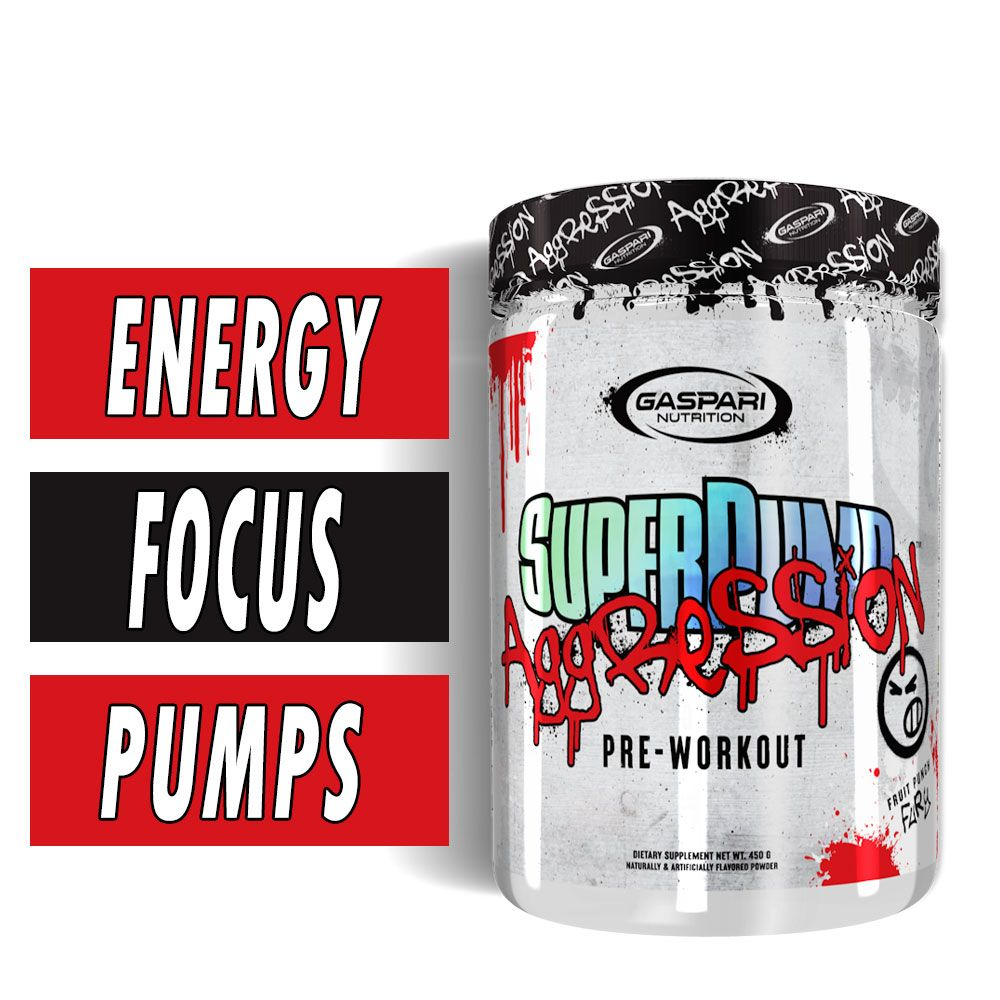 GASPARI NUTRITION SUPERPUMP AGGRESSION - NEXT-GEN PRE-WORKOUT