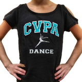 Open Shoulder Criss Cross Back CVPA Tee- Limited Edition
