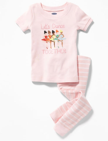 """Let's Dance Together"" Toddler PJ Set"