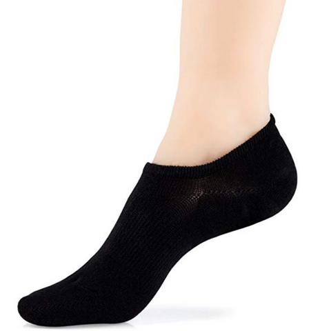 Adult Black No Show Socks