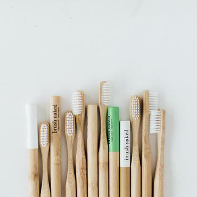 Bamboo Toothbrushes by Brush Naked - Nylon Bristles