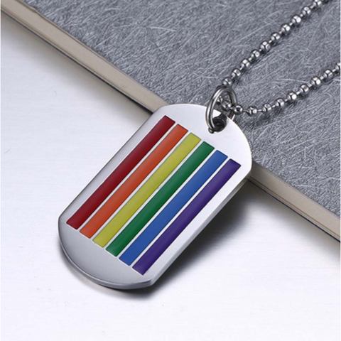 Rainbow Pendant Necklace