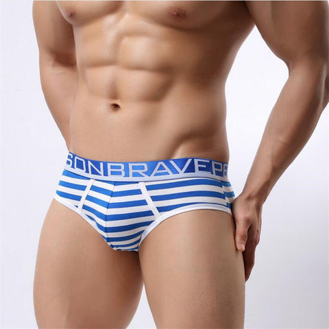 Brave Person Cotton Striped Briefs