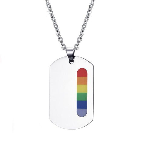 LGBT+ Pride Vertical Strip Dog Tag