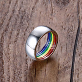 Gay Pride Inside Rainbow Ring
