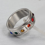 Rainbow Rhinestone Ring