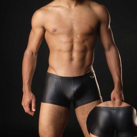 Faux Leather Boxer Brief