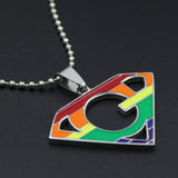 Super Gay Rainbow Pride Pendant