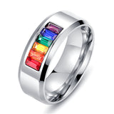 Rainbow Crystal Ring