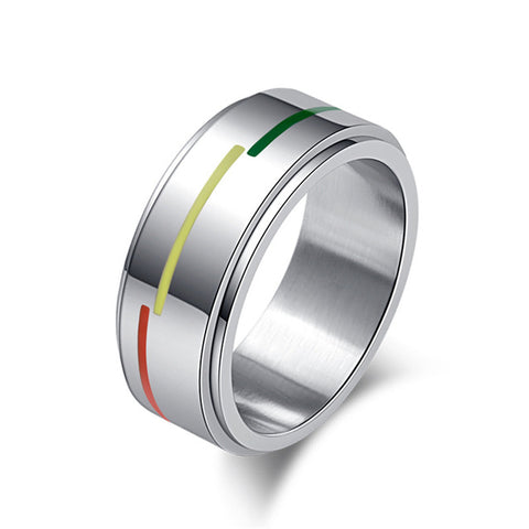 Rotating Spinner Rainbow Ring