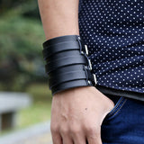 Wide Leather Wrist Cuff