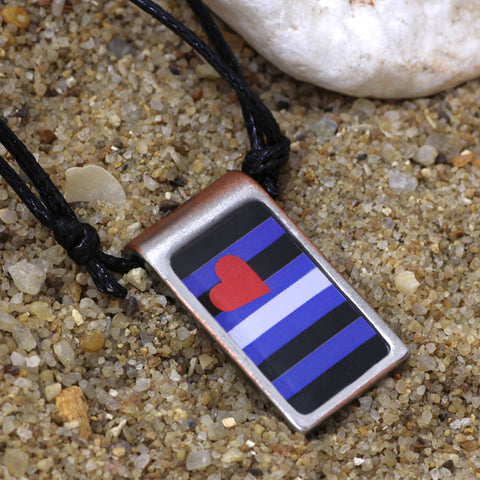 Leather Pride Pendant Necklace