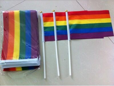 Small Rainbow Pride Flag - 100pcs