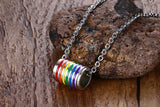 Gay Pride Barrel Necklace