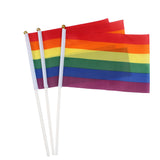 10 Pcs Small Rainbow Flags