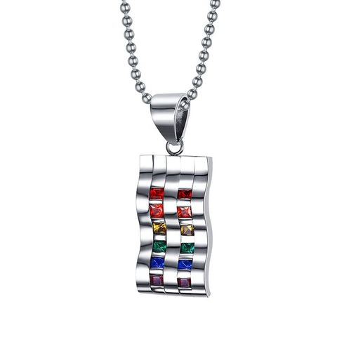 Rainbow Wave Necklace