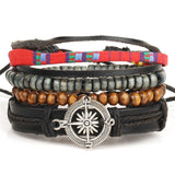 Compass Multilayer Wrap Bracelet