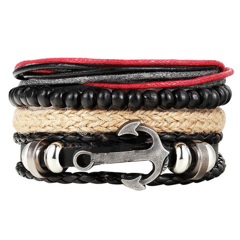 Anchor Multilayer Wrap Bracelet