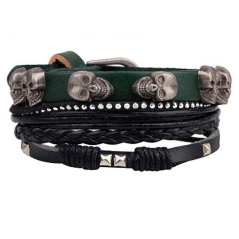 Skulls Multilayer Wrap Bracelet
