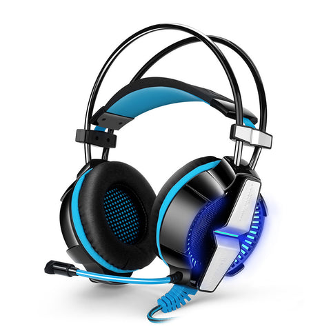 3.5mm Headset In-line Control Bass Noise Cancelling LED Light Gaming Headphone Computer PC Gaming Headset with Mic - Veva Works