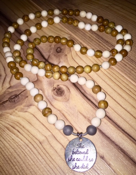 She believed she could MALA necklace
