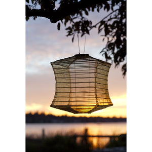 Silk Effects Square Solar Lantern