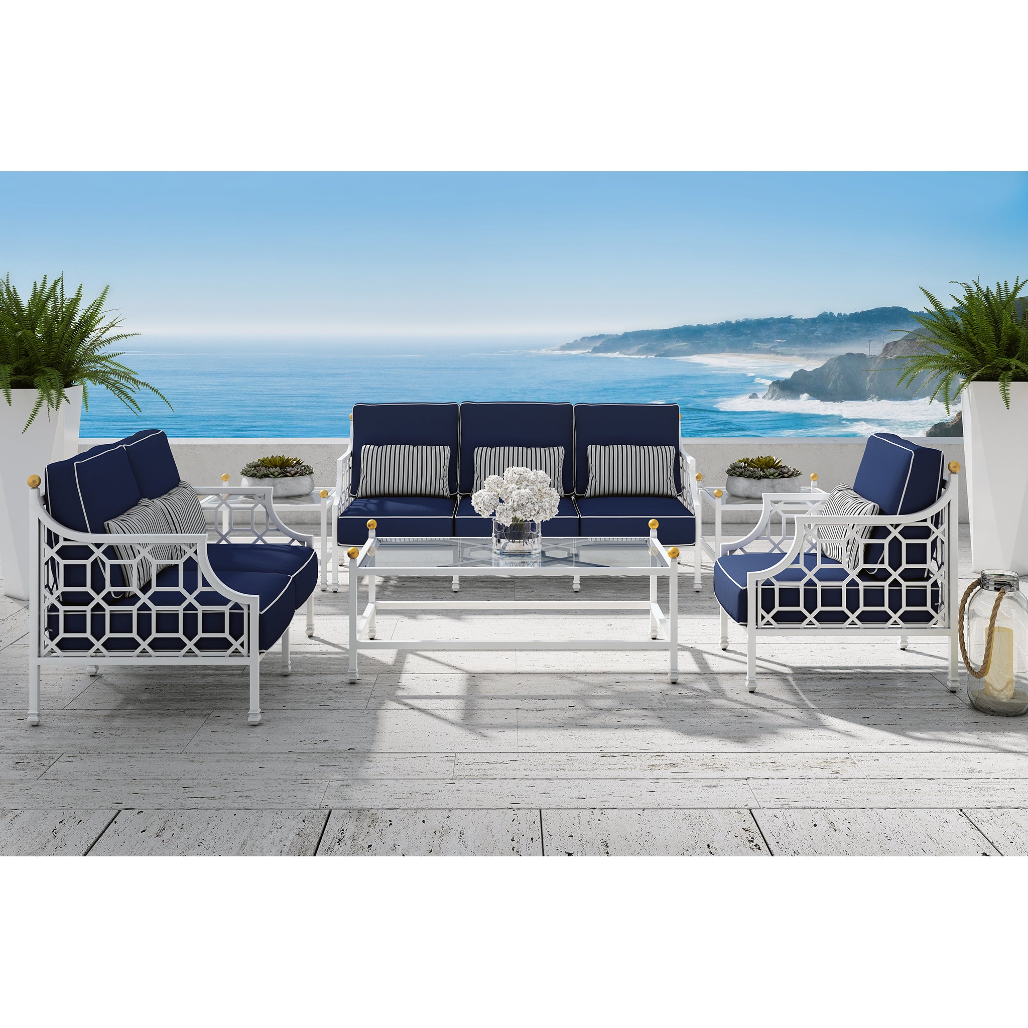 Barcaly Butera Six Piece Deep Seating Set