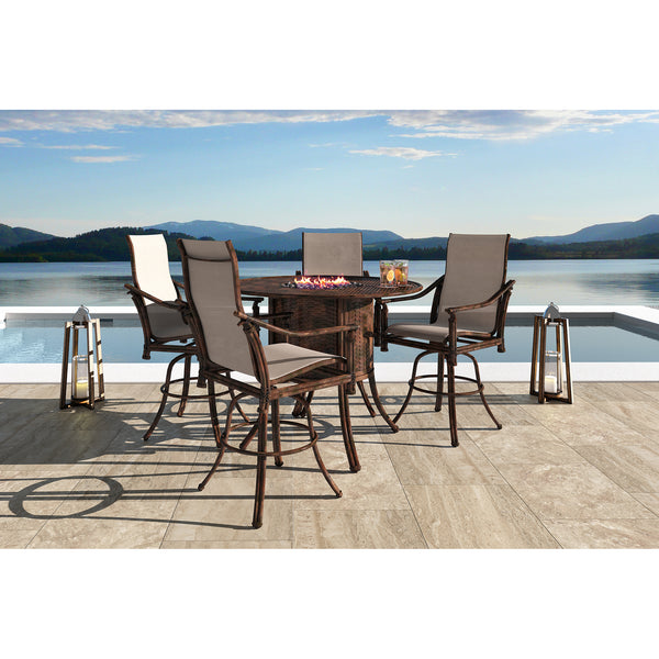 Coco Isle Five Piece High Sling Dining Set