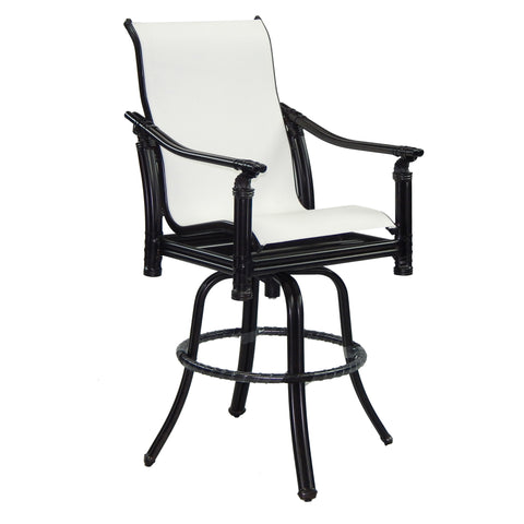 Coco Isle High Back Sling Swivel Bar Stool