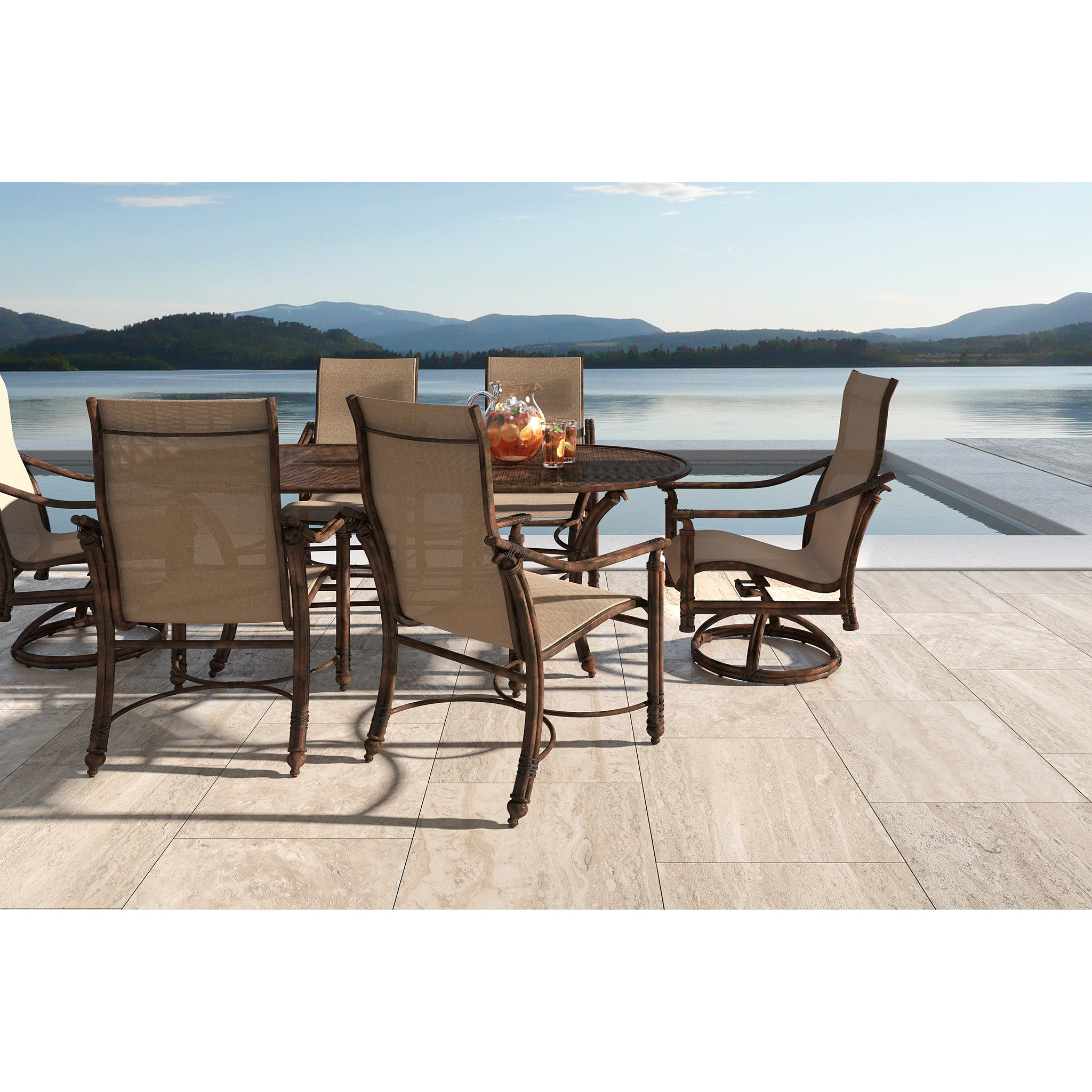 Coco Isle Seven Piece Sling Dining Set