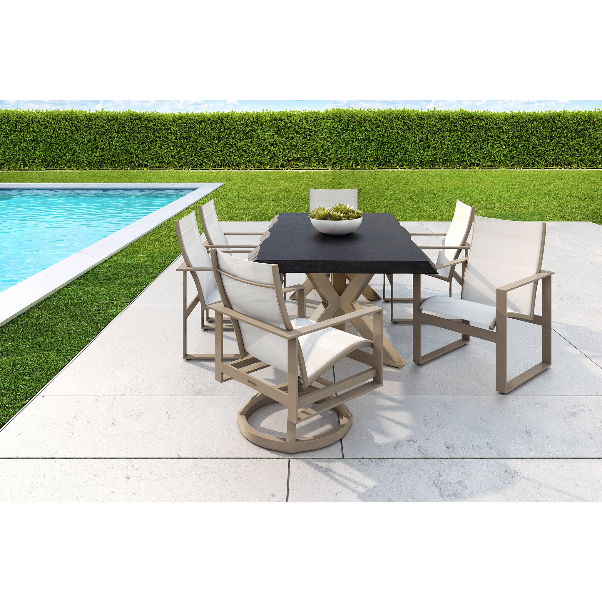 Park Place Seven Piece Sling Dining Set