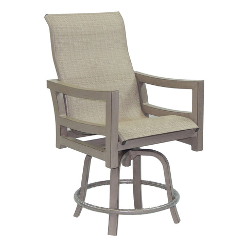 Roma Metro High Back Sling Swivel Counter Stool