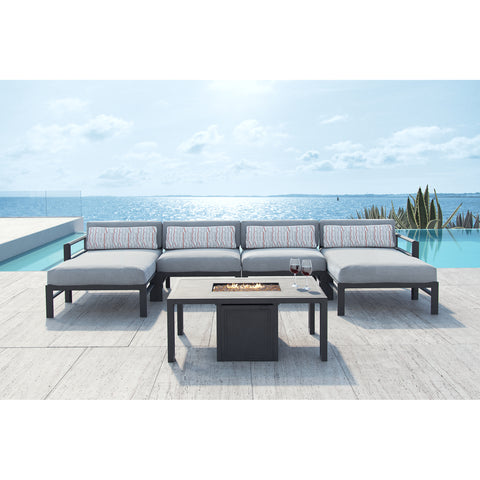 Vertice Five Piece Sectional Sofa Set