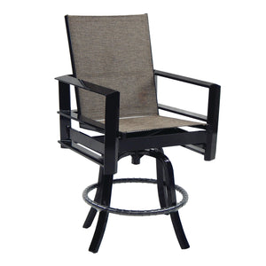 Vertice Metro High Back Sling Swivel Counter Stool