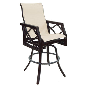 Villa Bianca Metro High Back Sling Swivel Bar Stool