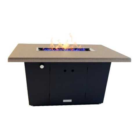 Palisades Rectangular Chat Height Fire Pit 44x36