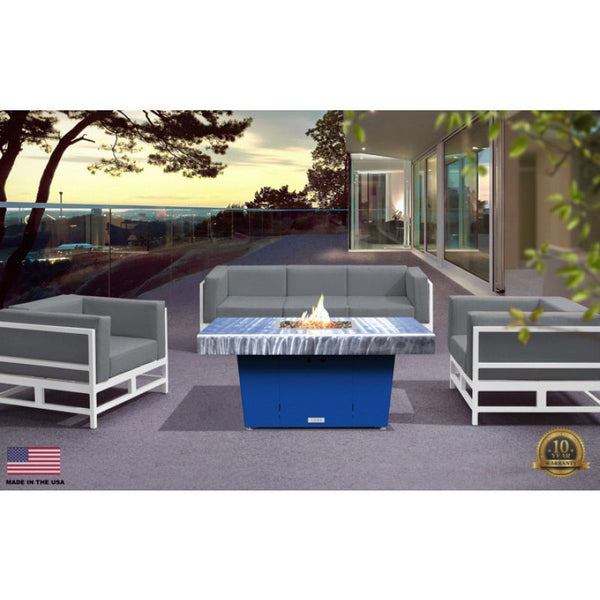 Palisades Rectangular Chat Height Fire Pit 48x36