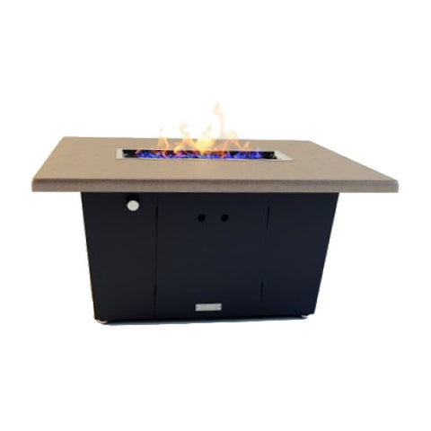 Palisades Rectangular Chat Height Fire Pit 52x36