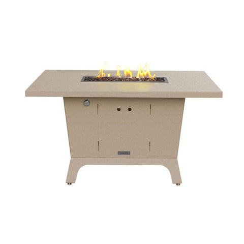 Palisades Rectangular Fire Pit Dining Height Table 52x36